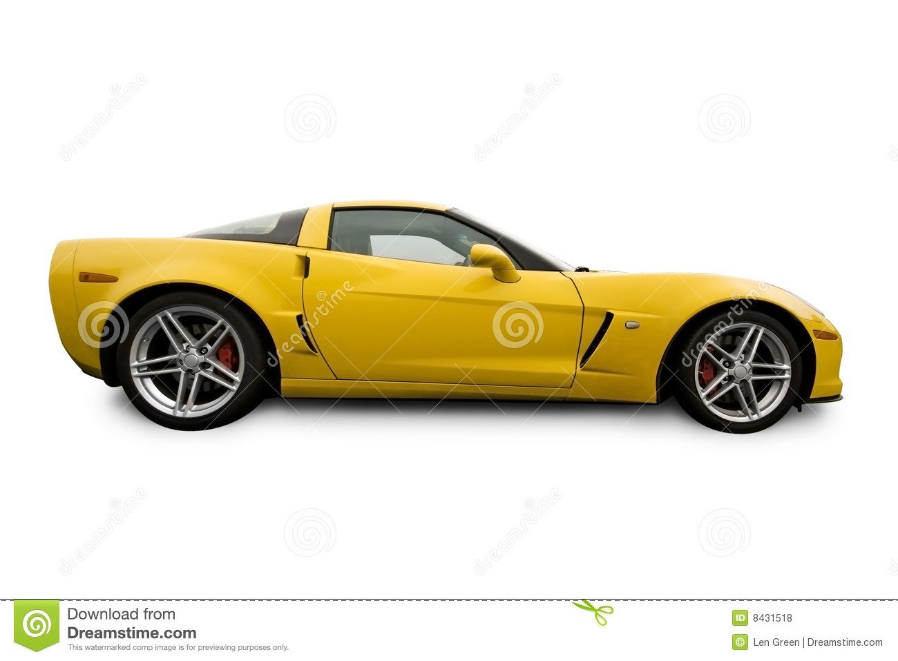 New Yellow Sports Car Stock Photo Image Of Corvette Auto On This Month