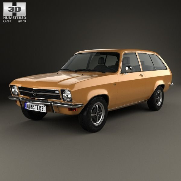New Opel Ascona A Voyage 1970 3D Model From Humster3D Com On This Month