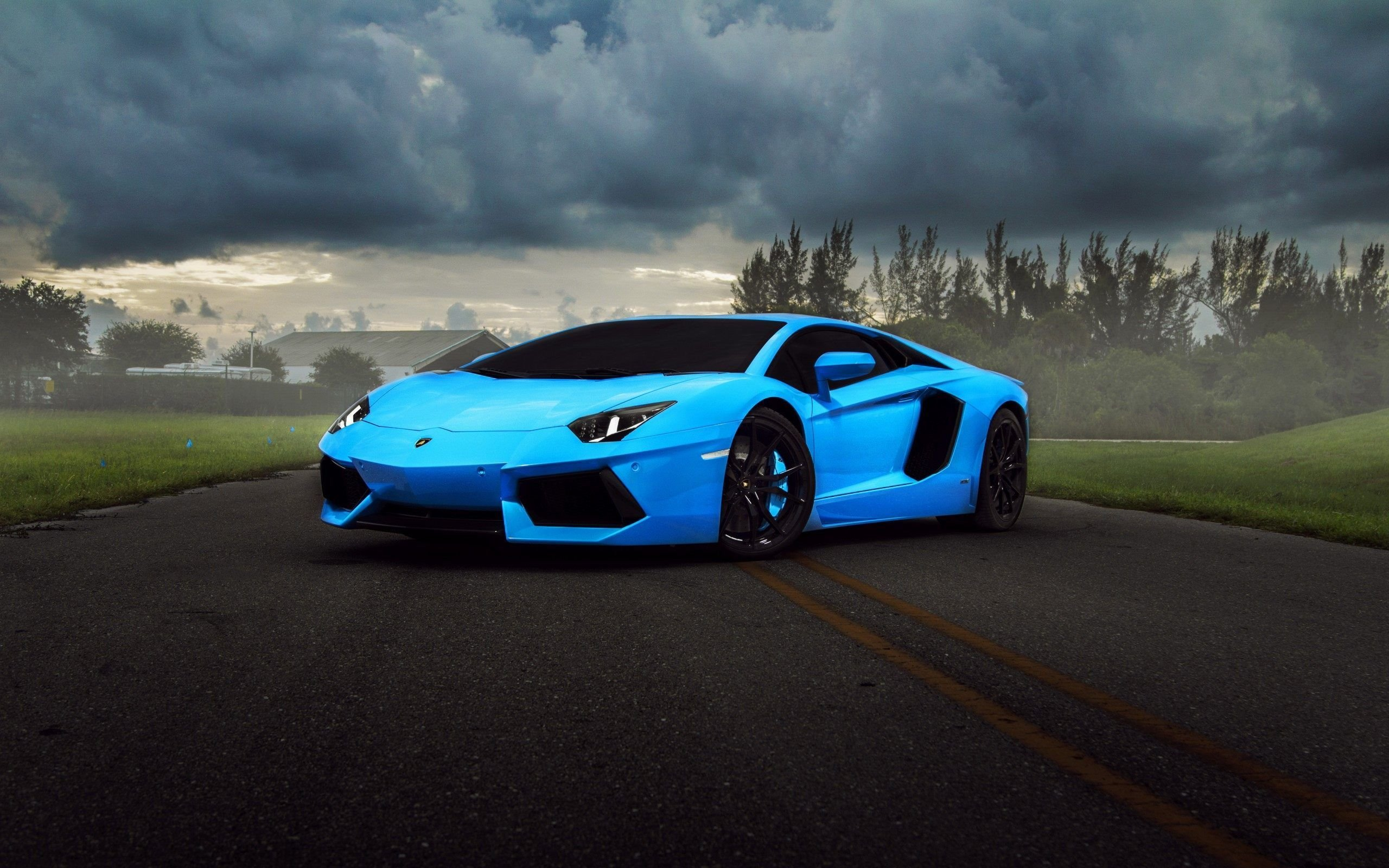 New Blue Lamborghini Wallpapers Free Vehicles Wallpapers On This Month