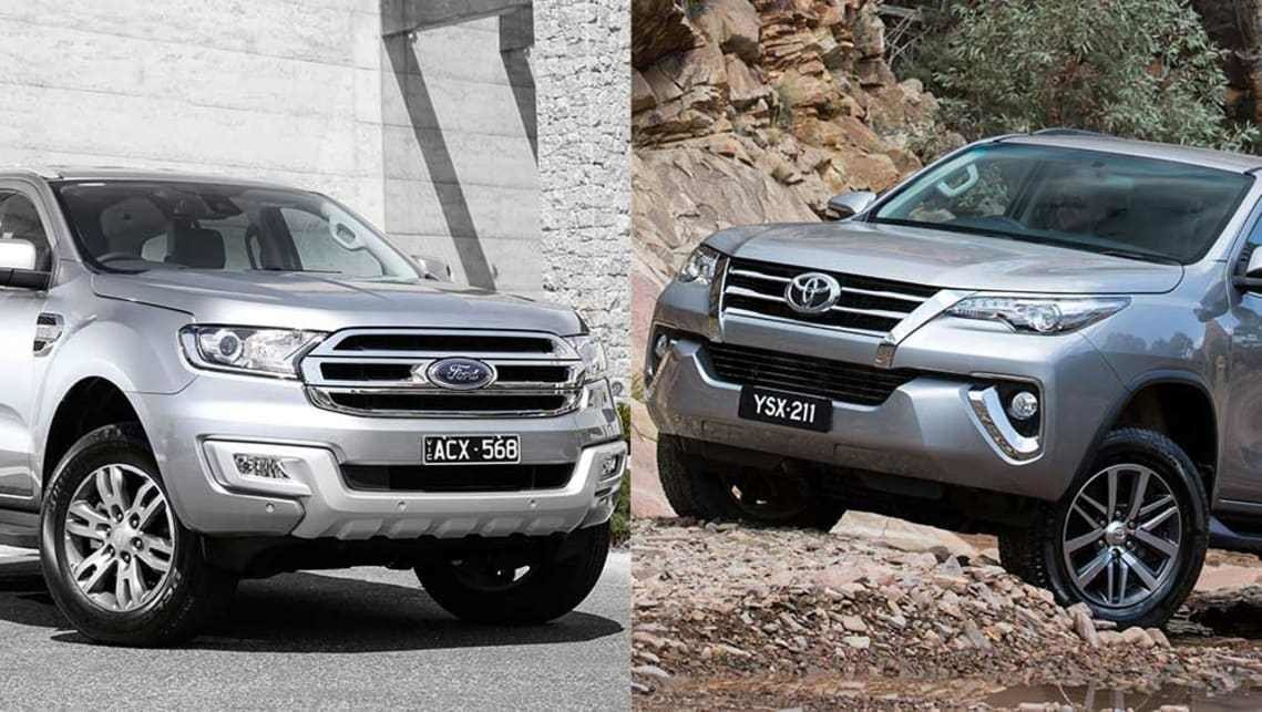 New Ford Everest Vs Toyota Fortuner Review Carsguide On This Month