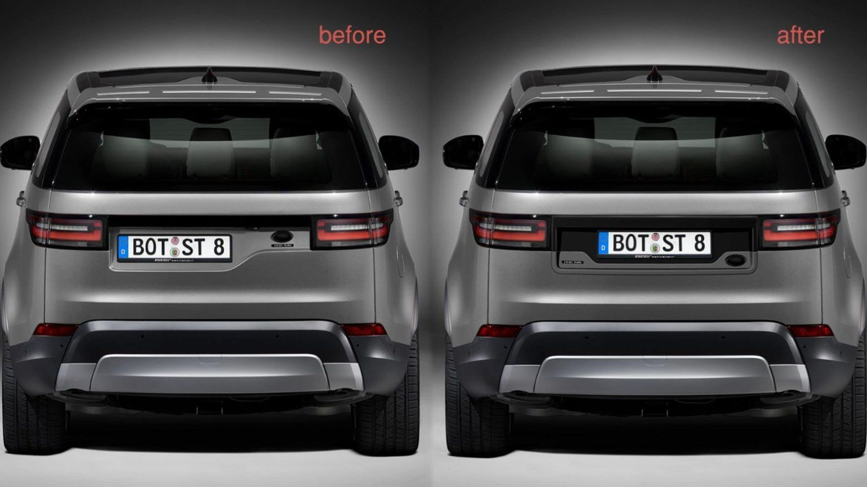 New Startech Will Fix Your New Discovery S Offset Number Plate On This Month