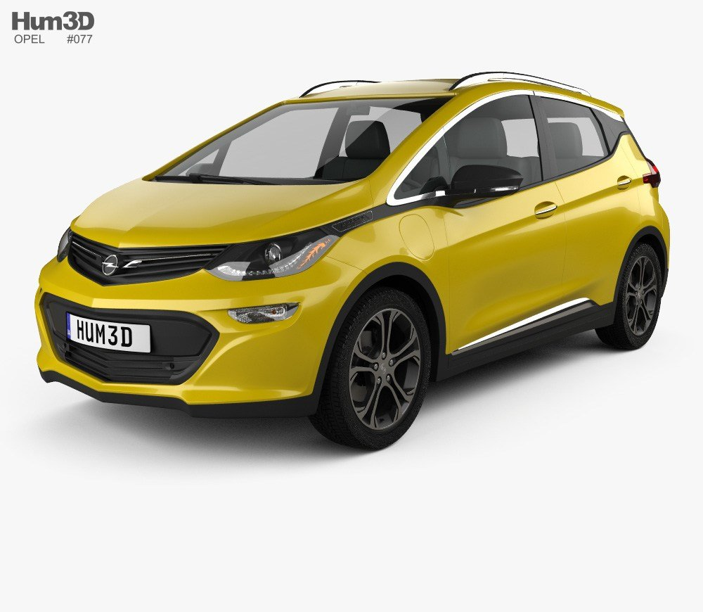 New Opel Ampera E 2017 3D Model Vehicles On Hum3D On This Month