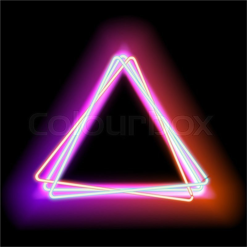 New Neon Triangle Neon Red Light Electric Stock Photo On This Month