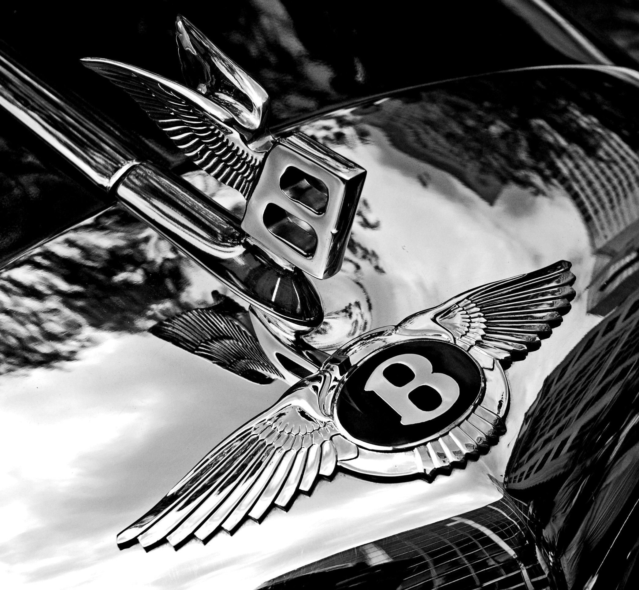 New File Bentley Badge And Hood Ornament Bw Jpg Wikipedia On This Month