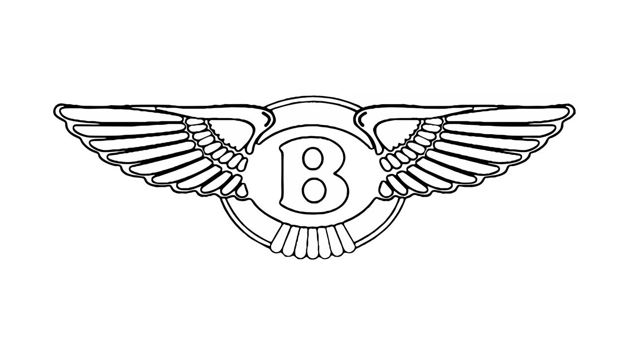 New How To Draw The Bentley Logo Symbol Emblem Youtube On This Month