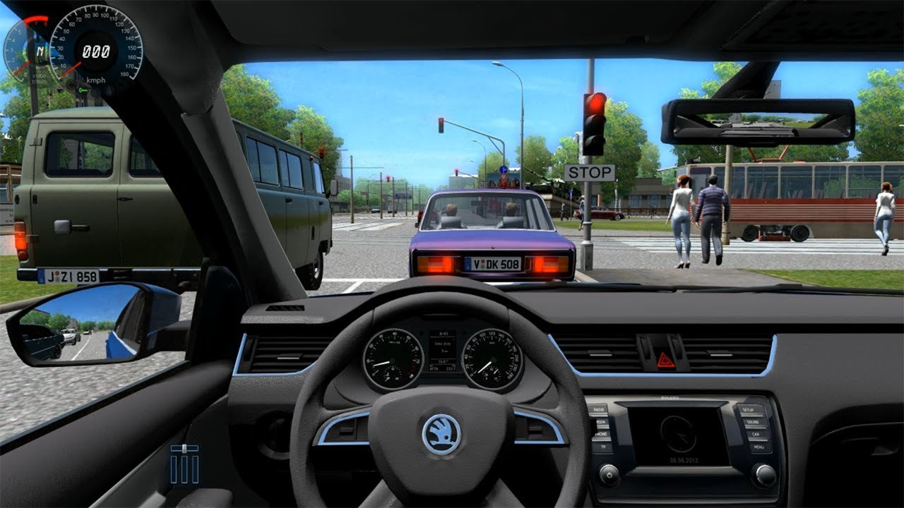 New City Car Driving Skoda Octavia A7 Download Link On This Month
