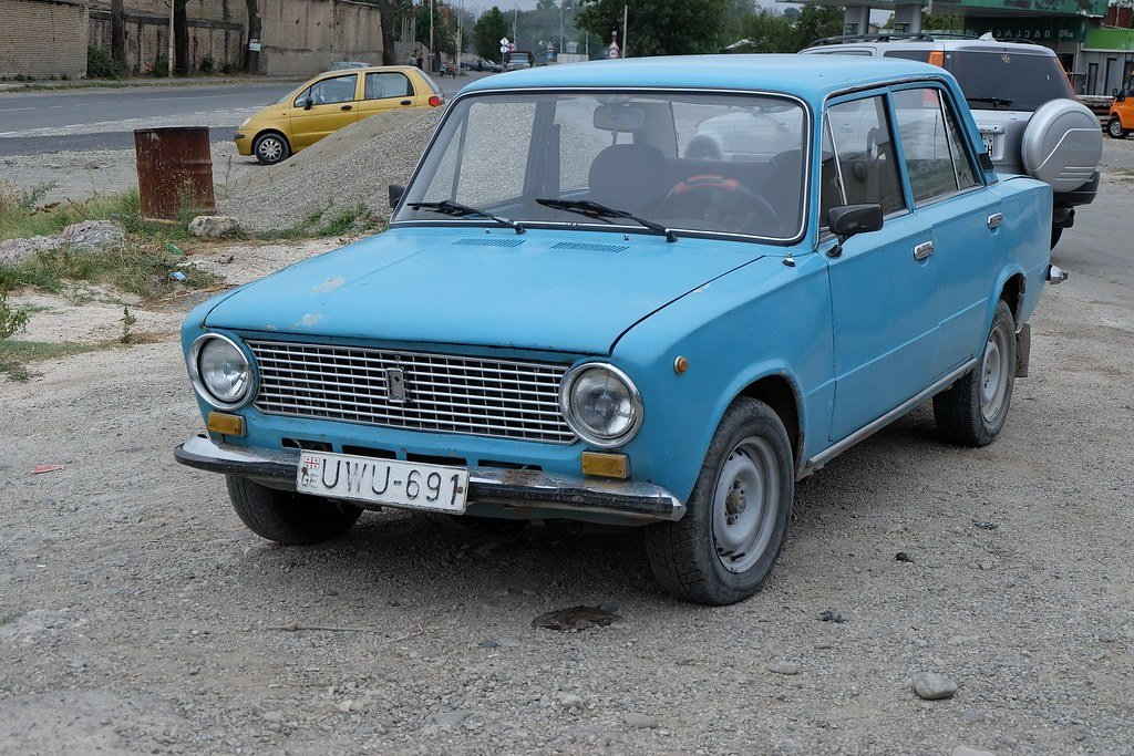 New A Close View Of One Of Ancient Russian Lada Cars And So On This Month
