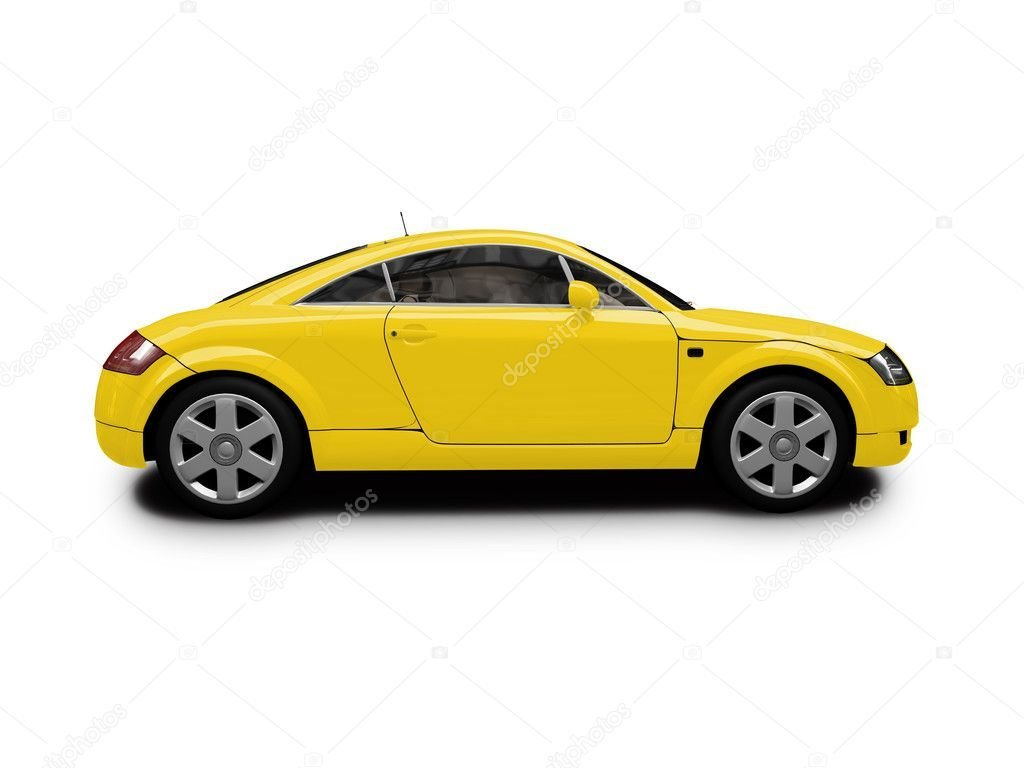 New Isolated Yellow Car Side View – Stock Editorial Photo On This Month