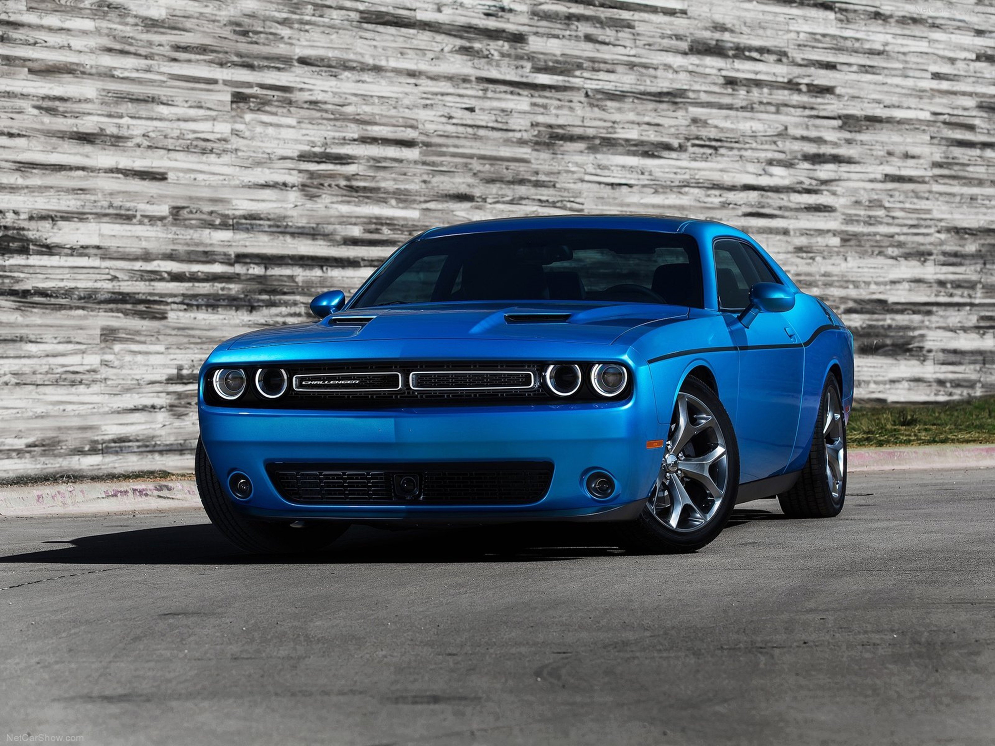 New Dodge Challenger 2015 Muscle Car Wallpaper Blue 4000X3000 On This Month