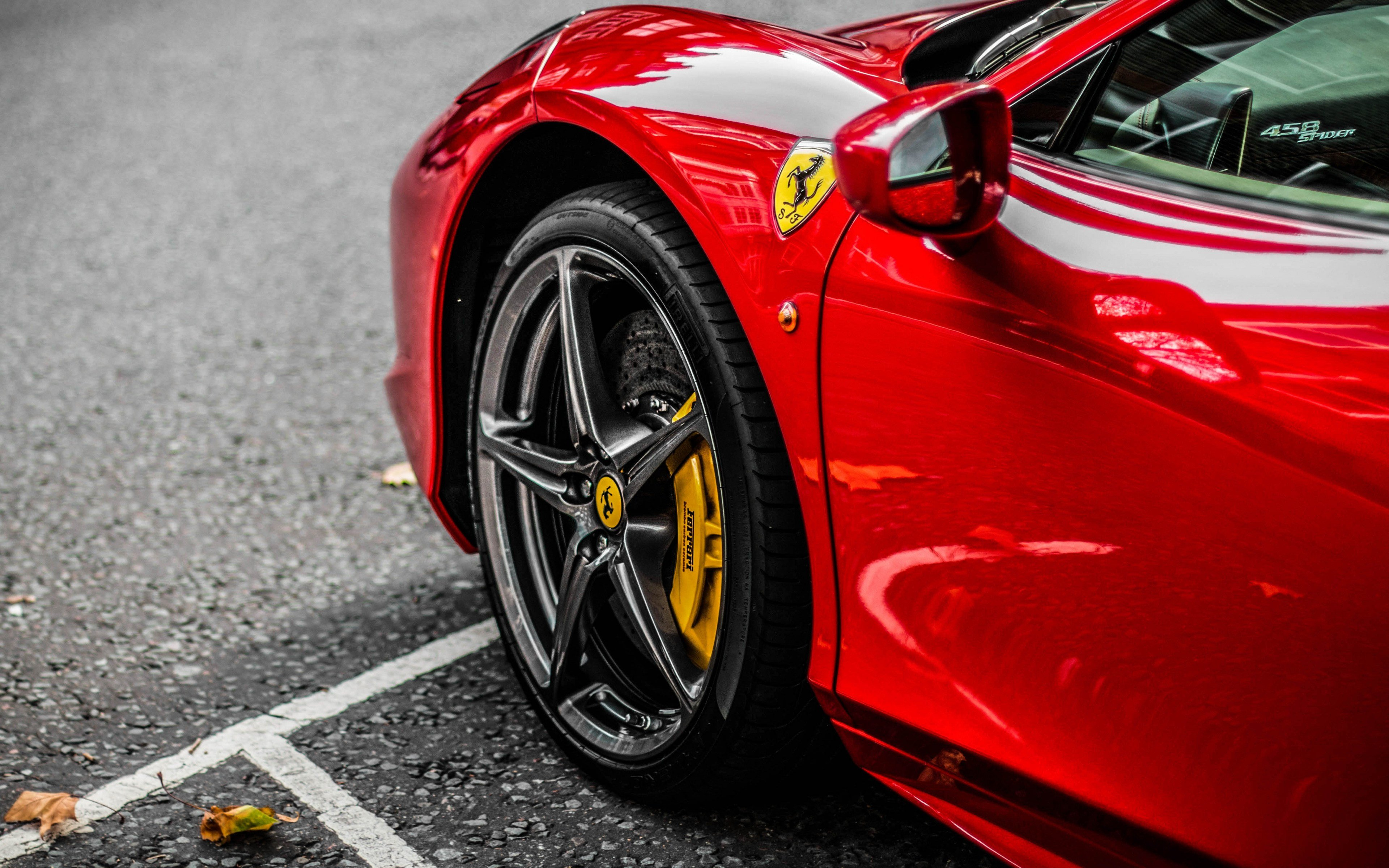 New Download 3840X2400 Wallpaper Red Supercar Ferrari Wheel On This Month