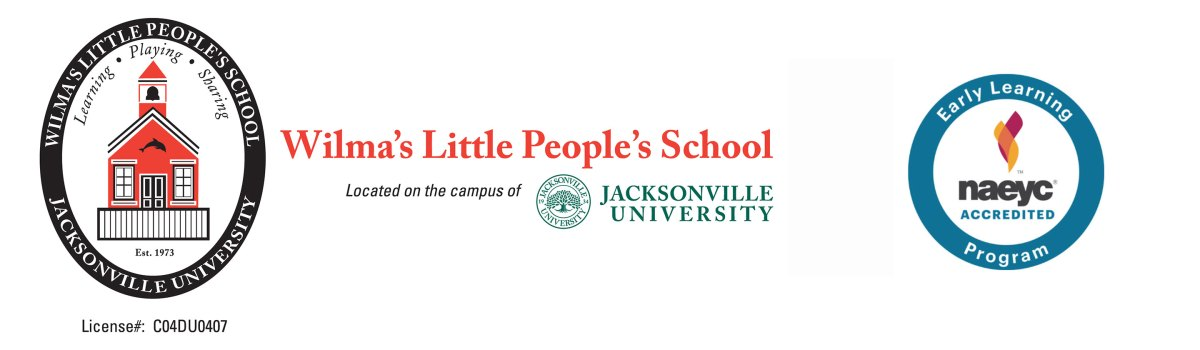 Wilma's Little People's School, located on the campus of Jacksonville University. NAEYC Accredited.