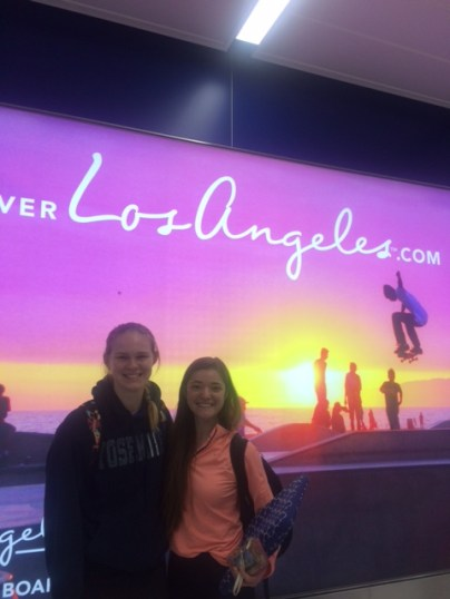 Here's Allison and me after landing in L.A. after our incredible adventure