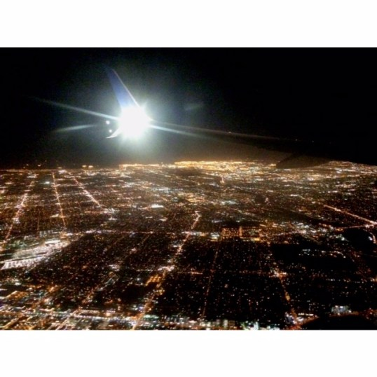 View of L.A. from above- yay home! :)