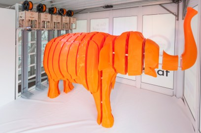 World Animal Protection's campaign 3D printed elephant.