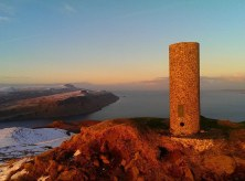 A 'Vanessa' trig pillar: The vast majority of trig pillars follow the standard Hotine design which walkers and outdoors lovers are most familiar with, but in some areas, particularly Scotland, there are some 'Vanessas' which are taller, cylindrical concrete pillars. Scott MacLucas-Paton took this photo of a Vanessa on top of Ben Tianavaig, Skye, last winter.
