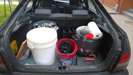 Samochód zapakowany - ruszamy na podbój Dywit.