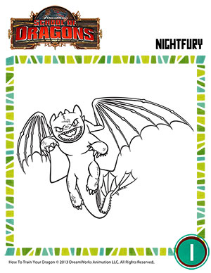 color night fury httyd toothless coloring page school of dragons