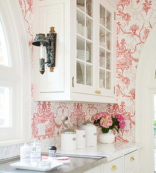 Wallpaper on the Walls of the Kitchen