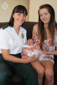 BABY BORN IN LIFT NAMED AFTER PARAMEDIC 2