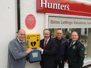 ESTATE AGENT GIVES HOME TO LIFE SAVING BOX