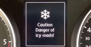 Icy Roads speedo