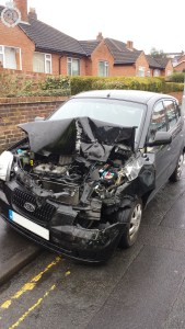 Seatbelt spares driver more serious injury