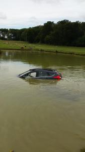 Car in pond 2