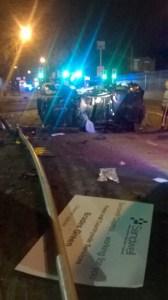 Man taken to major trauma centre after car overturns in Oldbury 2 17-08-15