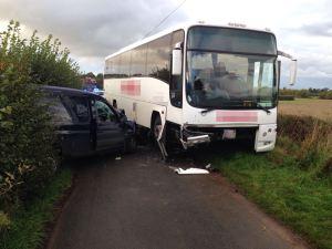Coach and van crash 06-10-15