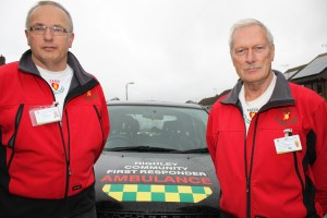 Highley Community First Responders - Dave Fulton (right) and Nigel Preece (left) 30-10-15