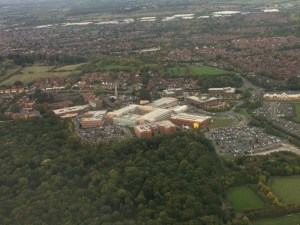 Hospital - Worcestershire Royal from the air