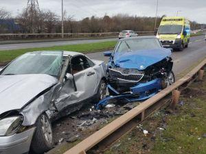 Two car crash in Cannock 29-11-15