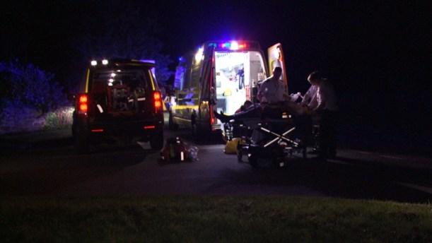 Ambulance and Disco at Night