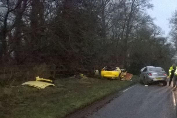 TWO INJURED IN RTC IN SHROPSHIRE 05-01-16