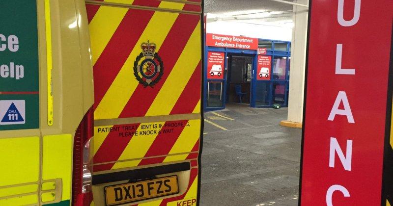 Ambulance at Birmingham Children's Hospital