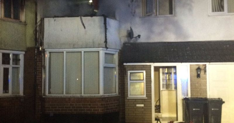 House fire at Shepherds Green Road