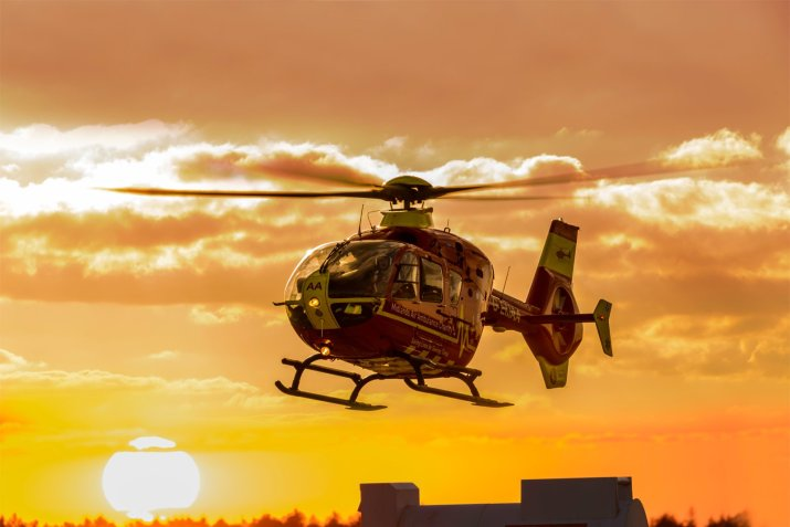 HMED 09 at sunset