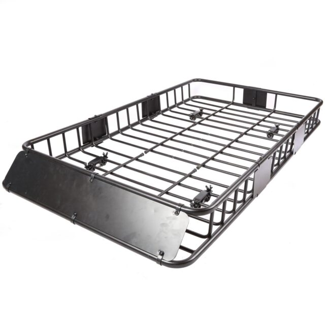 xl 64 x 39 500 lbs capacity steel roof top rack luggage cargo carrier basket for car van suv for crossbars