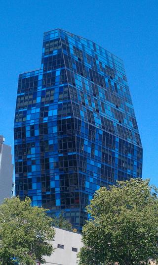 An objectively weepingly hideous building off Delancey.