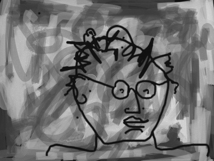 According to the public figure's Facebook page, this is a self portrait.