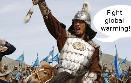 genghis khan battles global warming