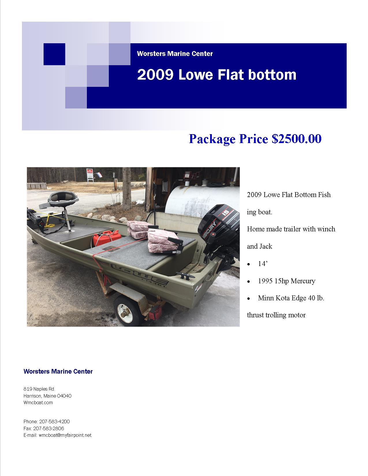 Lowe flat bottom thank for