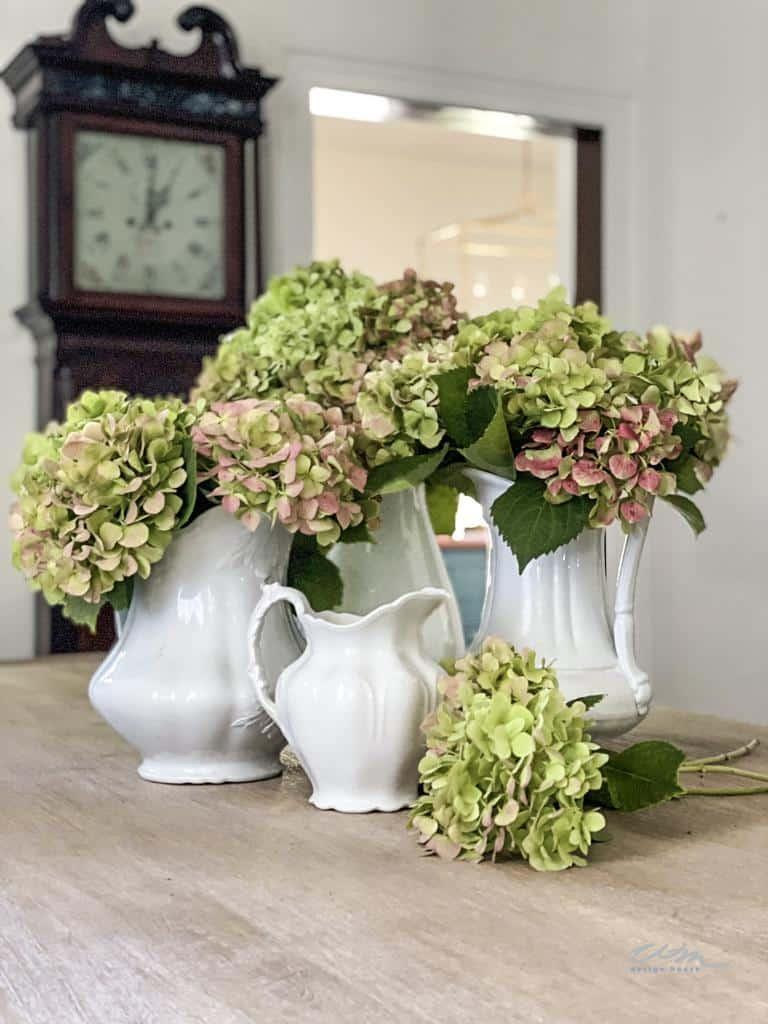 10 ways to decorate with hydrangeas