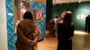 Michelle Scott with WMES members in the Gift for the Gods exhibition