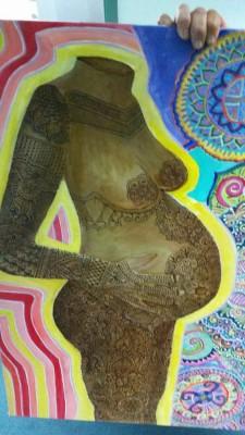 Henna on Canvas woman
