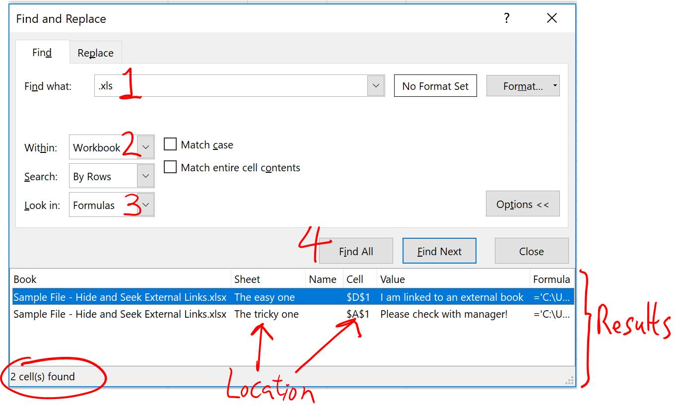 Hide And Seek External Links In Excel