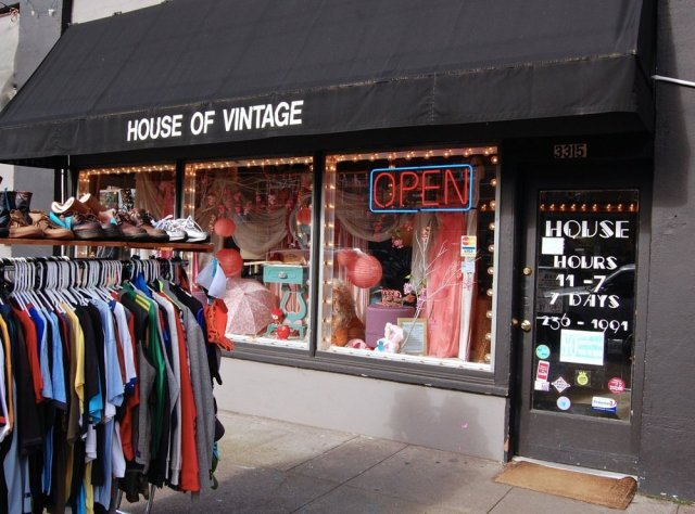 House of Vintage  Neighborhood: SE  Why I Dig It: House of Vintage pushes me to my limits. And by that I mean that I have some serious merchandising anxiety and stores with packed-in displays tend to overwhelm me, but the loot is usually so good at this place that I don't care. I've been coming to House of Vintage since High School and found that it was the perfect 'let's kill a Saturday afternoon' excursion. From great vintage dresses, weird toys from the 90s that you hope don't come back to haunt you in your sleep, and endless racks of random treasures, I guarantee you'll find something. http://www.houseofvintagenw.com/portland/
