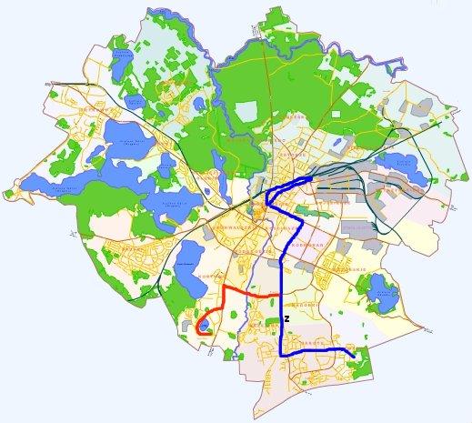 Sieć tramwajowa - projekt KMKM