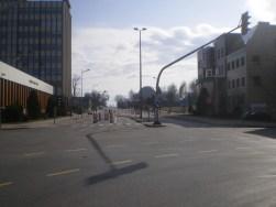 Skrzyżowanie ulicy Kościuszki i alei Piłsudskiego (8 marca 2015)