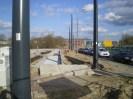 Budowa linii tramwajowej przy ulicy Tuwima (16 kwietnia 2015) - przystanek końcowy przy skrzyżowaniu z aleją Warszawską i ulicą Prawocheńskiego